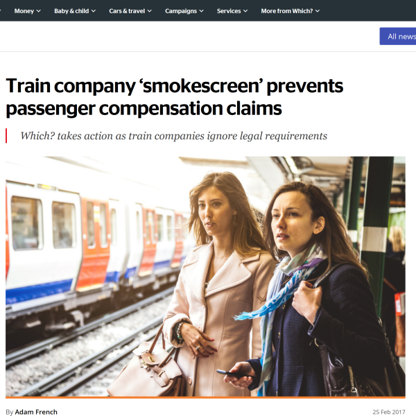 Train company 'smokescreen' prevents passenger compensation